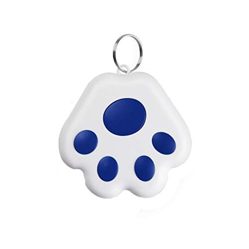 TriLance Mini Cat/Dog GPS Tracking Locator, Bluetooth Tracker for Dogs Kids Cats Luggage Wallet, Cube Key Finder Smart Tracker Tracking Loss Prevention Waterproof Device Pet Locator (Dog paw-Blue)
