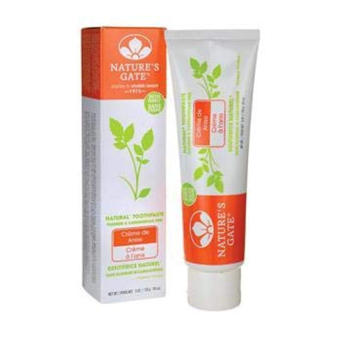 概して熟す銀海外直送品Toothpaste Creme De, Anise 6 Oz by Nature's Gate