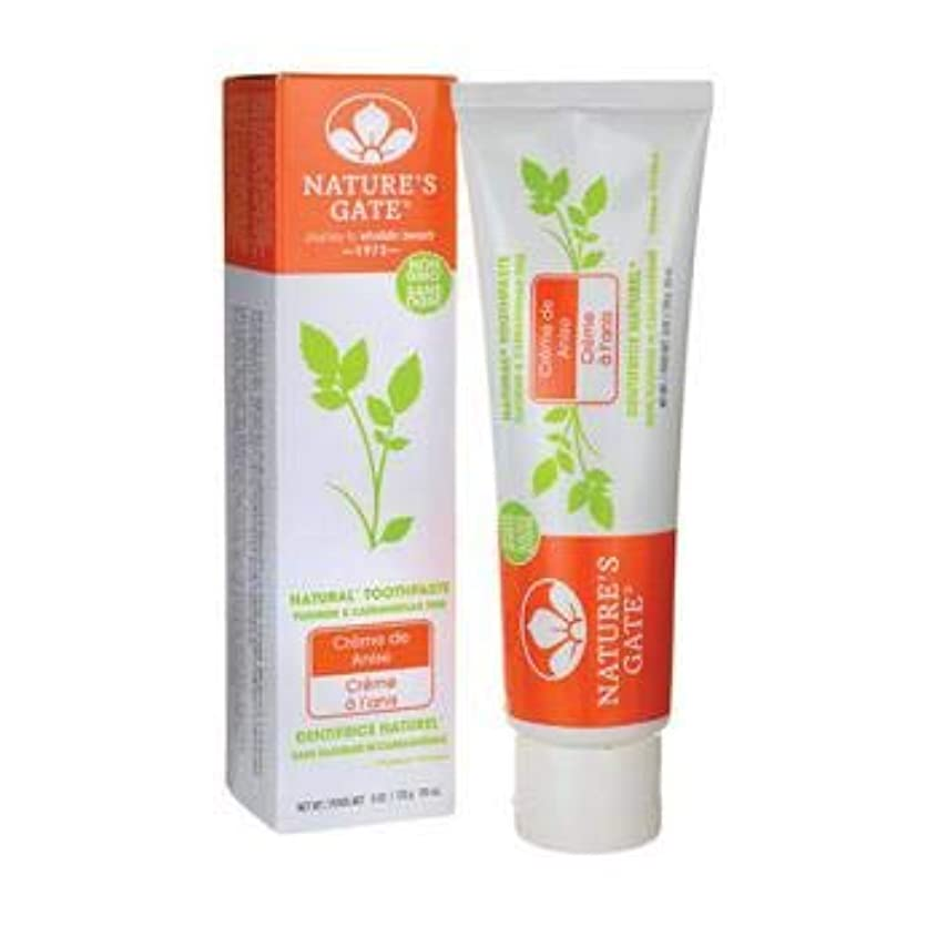 災害記録大聖堂海外直送品Toothpaste Creme De, Anise 6 Oz by Nature's Gate