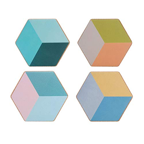 Sottobicchieri per Bevande Geometrico Diamante Sughero Sottobicchiere Creativo Tovaglietta Casseruola Cuscinetto Isolante Cuscinetto for ciotola Buon assorbimento d'acqua Protezione dei Mobili
