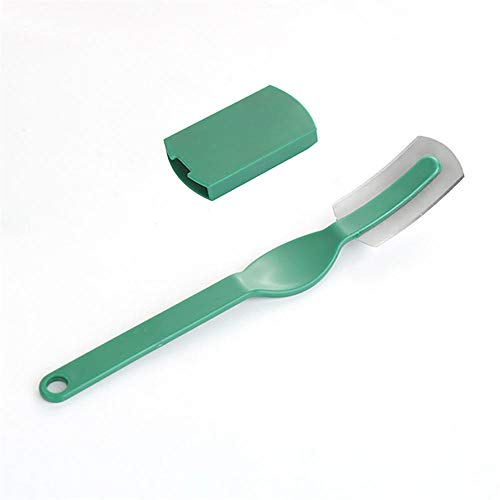 ddmlj Backen Liefert Holzgriff Gebogenen Brotschneider Brotmesser Backschneider, Um 4 Ersatzklingen Zu Senden-Grüner Kunststoff