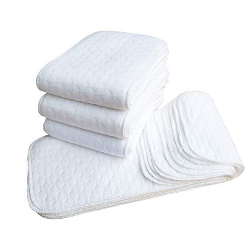 ELENXS 10PCS réutilisables Couches pour bébés Couches Lavables Inserts 1 pièce 3 Couche Insert...