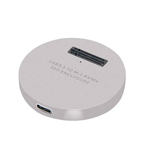 Gabinete SSD, Romacci LM-914 USB 3.1 Type-C para PCI-E M.2 NVMe SSD Conversor de adaptador de gabinete para Windows OSX Li Silver