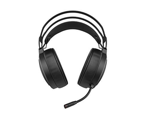 HP – Gaming Cuffie X1000 Wireless con Dongle USB, Autonomia fino a 20 ore, Virtual Surround 7.1, Auricolari e Fascia Sospensione Imbottiti, Microfono Asta Flessibile LED Rosso, Comandi On-Ear, Nero