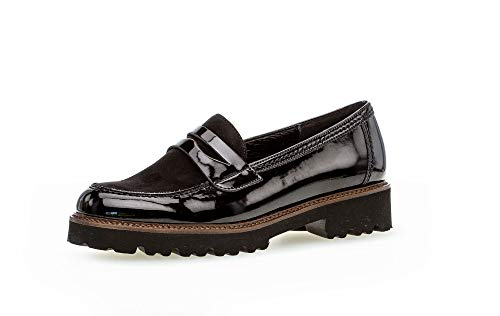 Gabor Damen Slipper, Frauen Mokassins,Best Fitting, elegant Business-Schuh anzugschuh weiblich Lady Ladies,schwarz (Cognac),39 EU / 6 UK