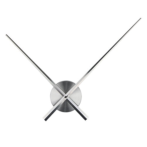 Timelike 3D Clock Hands, DIY Large Clock Hands Needles Wall Clocks 3D Home Art Decor Quartz Clock Mechanism Accessories (Silver)