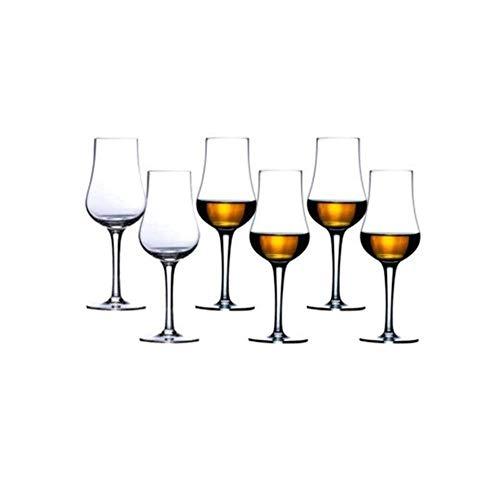 FSJIANGYUE Coppa del Goblet di Vetro di Cristallo di Whisky, 2 pz...