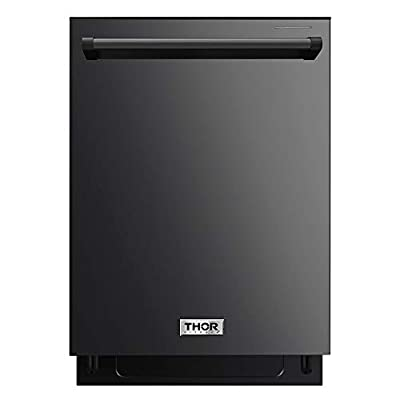 """Thor Kitchen 24"""" Built-In Pro-Style Dishwasher Black Stainless Steel - HDW2401BS"""