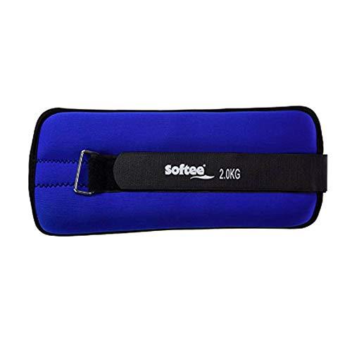 Softee Equipment Juego Tobilleras Y MUÑEQUERAS LASTRADAS - 2KG - Color Royal