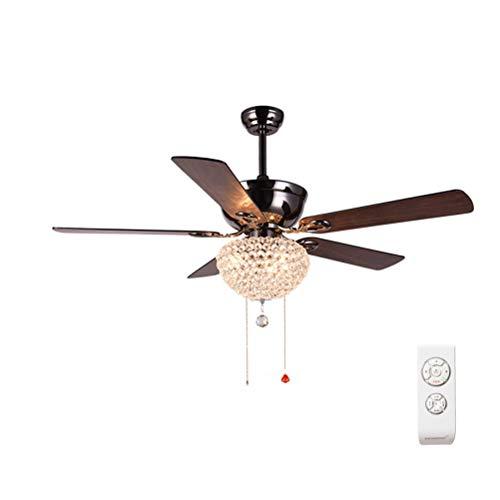 GaLon plafondventilator, verlichte ventilator, houten bladvorm, decoratie, restaurant, slaapkamer, plafondventilator, stil licht, Amerikaanse ventilator, snelheidsregeling Afstandsbediening