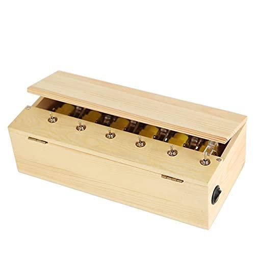 Juguete eléctrico de la caja de madera del multi-interruptor, cargable interesante descompresión juguete novedad regalos para niños adultos