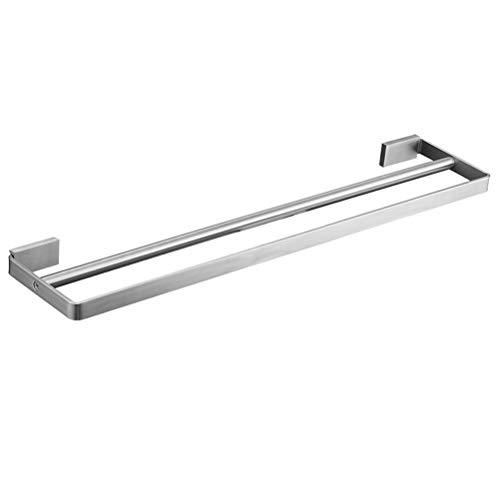 Preuve de la rouille résistant d'acier inoxydable de support de serviette double fixé au mur for l'accessoire de salle de bains de place de cuisine 40~80 cm YueB HBS (Size : 80cm)