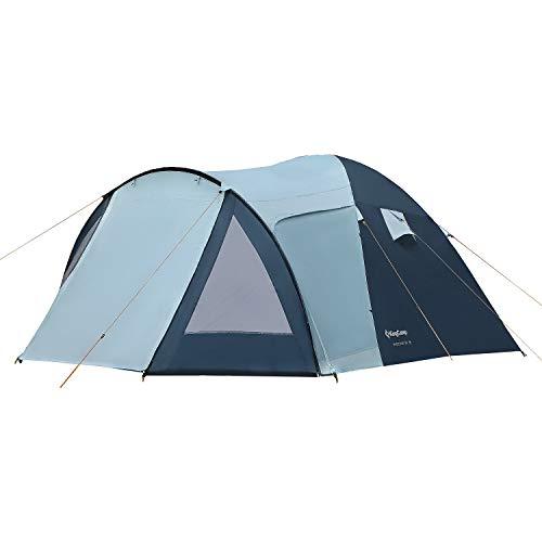 KingCamp Week-End 3 Man 3 Personas, 3000 mm, Impermeable, Cortavientos, Resistente al Fuego, Tienda de campaña para Camping, Senderismo al Aire Libre