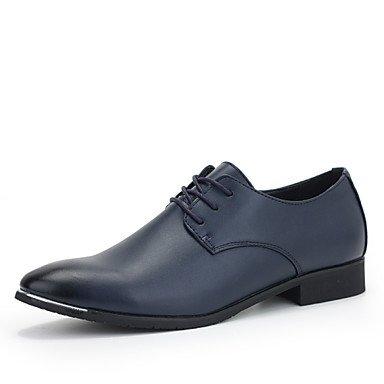 Scarpe uomo matrimonio/Office & carriera/Party & Sera Oxfords in pelle nero/blu/rosso borgogna
