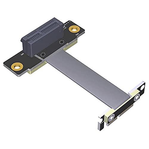 Mogzank Cable Vertical PCIE X1 Cable de ExtensióN PCIe 3.0 X1 una X1 de áNgulo Recto de 90 Grados Doble Tarjeta Vertical PCI Express 1X de 8 Gbps, 25 Cm