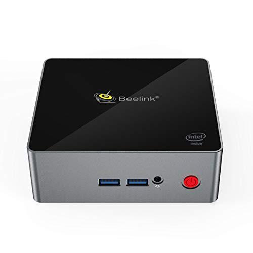 Beelink J45 Mini PC Licence Windows 10 Multimedia Office Ordinateur de Bureau Intel Apollo Lake Pentium Silver J4205 8Go Ram LPDDR4 SSD 256Go Double HDMI 4K, Montage VESA, Double WiFi