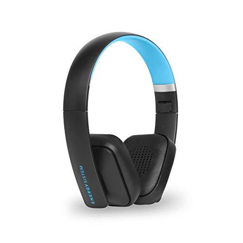 Energy Sistem Headphones BT2 Bluetooth Cyan (Auriculares inalámbricos con micrófono, cancelación de Ruido y Sistema de Plegado) - Azul