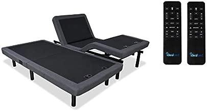 iDealBed 4i Custom Adjustable Bed Base, Wireless, Massage, Nightlight, Zero Gravity, Anti Snore, USB, Memory Pre Sets, Split King