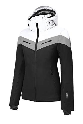 Zero RH+ Grand Couloir W, Abbigliamento Woman Snow Jacket Donna, Black/White/Silver, M
