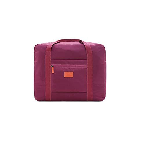N-brand PULABO NovelNylon Waterproof Suitcase Waterproof Travel Bag Travel Hangbag Waterproof Hangbag Folding Pack Dark Purple Creative and Useful