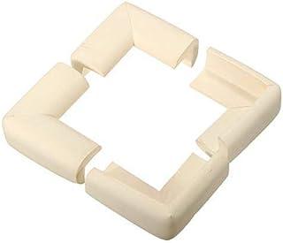 4 قطع وسائد واقية لحماية الأطفال الرضّع والأطفال الصغار، للاستخدام على زوايا الطاولة للحماية من الارتطام، باللون العاجي