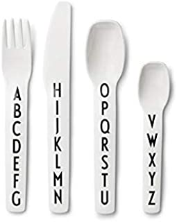 Design Letters - Kids Alphabet Cutlery/Flatware - 4 Pieces