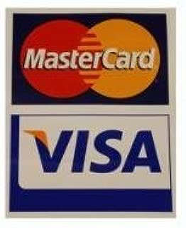 Visa/MasterCard Decal - Small