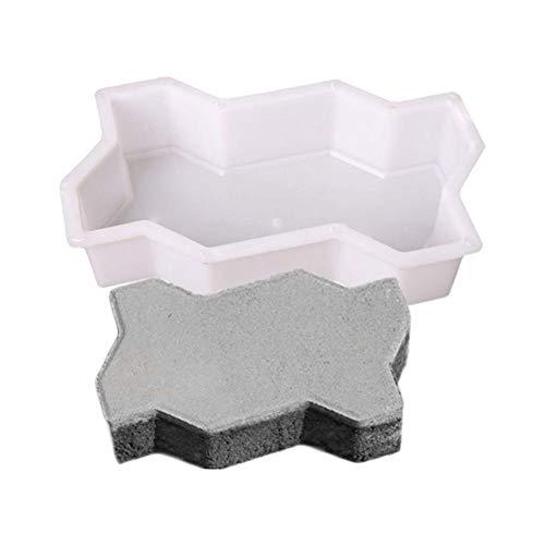 delibett DIY - Molde de hormigón para Andar Caminando con Forma de encofrado, Molde para pavimentos, Plantilla para hormigón, adoquines, Placas de terraza