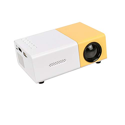 CZX YG300 LED Micro Projector 480X320 Pixel Support 1080P YG-300 HDMI USB Audio Portable Projector Home Media Video Player,Yellow
