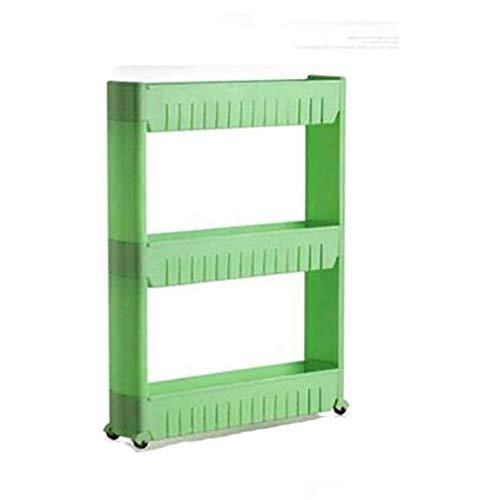 Torre de almacenamiento extraíble de 3 niveles para cocina, dormitorio, estante de baño con ruedas (color: A1)