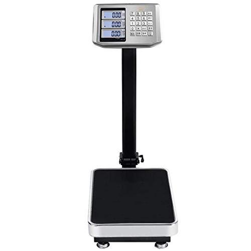 HJTLK Báscula de baño Digital, báscula electrónica de Precios de 100 kg Báscula de Plataforma de 150 kg Báscula electrónica de 300 kg Báscula de Peso del medidor