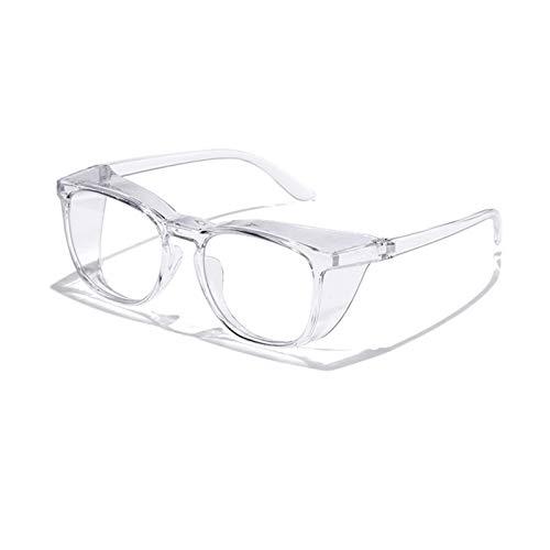 QCLU Womens Mens Safety Goggles, Pollen Bril Goggles Hooikoorts Goggles, Anti-Pollen Anti-Mist Anti-Blauw Ligh Clear Lenzen Brillen Winddichte Side Shields Beschermende Brillen (Color : Clear)