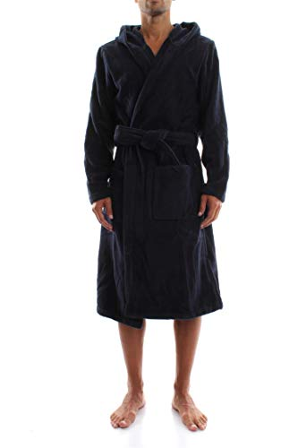 Tommy Hilfiger Icon Hooded Bathrobe Peignoir, Bleu Marine Blazer (PT 416), M Homme