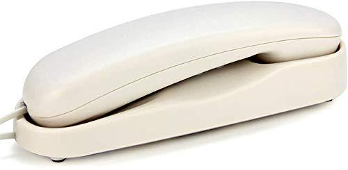 LLDKA Teléfono con Cable Teléfono Fijo Gondola Estilo Ascensor Dormitorio Sala de Estar Baño Montado en la Pared Pequeño Extensión,Blanco