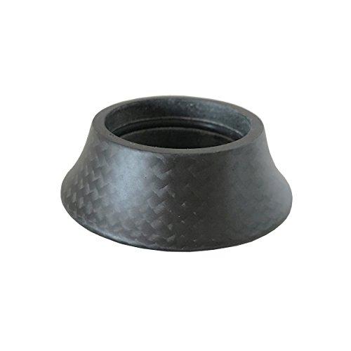 DEERU Bike Carbon Headset Washer MTB Bike, Rennrad, Carbon Cover Gabel Taper Spacer -15mm, Matt