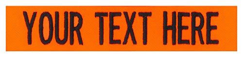Custom Uniform Name Tape 24 Hour Ship, Neon Orange, 4 Inch Sew on