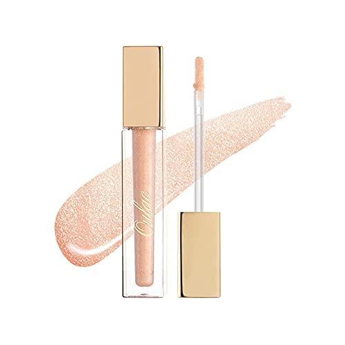 Oulac Glitter Lip Gloss Volumizzante Labbra e Idratante Rossetto Liquido - Plumper Volumizzante Labbra, Brillante e Illumina Labbra Labbra, 4.5 ml, Illuminate (C01)