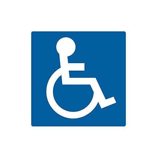 chenche Autoaufkleber 14CM * 14CM Behindertenparkschild Behindertenschild PVC-Motorradaufkleber, Autoaufkleber