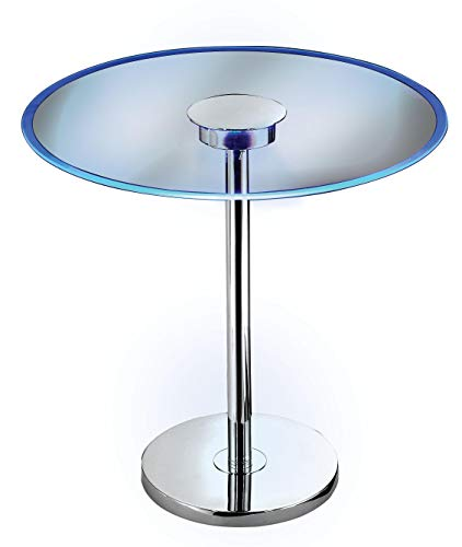 Kenroy Home 32176GCH Spectral Accent, 20 Inch Dia. x 20 Inch Height, Chrome Finish Glass Table with...