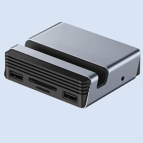 NXYJD SHJPJFXJ Estación de Acoplamiento Tipo C Tipo C HUB C A 4K HDMI Compatible con HDMI PD SD/TF Lector de Tarjetas RJ45 Soporte del Soporte del teléfono