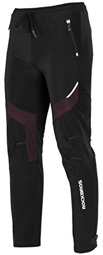 RockBros Winter Cycling Pants Warm Ergonomics Men's Windproof Thermal Bicycling Pants Black