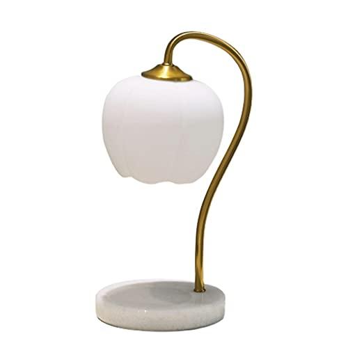 Lámpara de mesa Lámpara de mármol de marmol de mármol lámpara de mesa de mármol simple y creativa lámpara de cama casa sala de estar decoración lámpara dormitorio cálido cera lámpara de fusión Lámpara