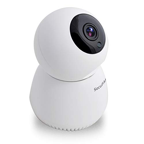 SecuSTATION ペットカメラ ネットワーク Wi-Fi 白 日本メーカー 夜間撮影 自動追跡 フルHD SDカードなし 防犯ステッカー付 SC-LA52