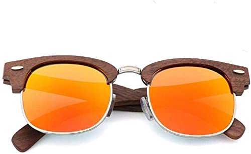 Gafas de sol retro de madera de bambú para hombre s mujeres y mujeres con lentes polarizadas