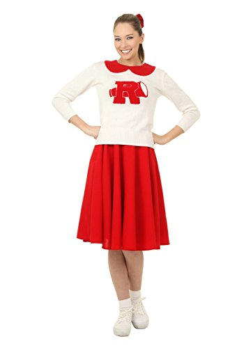Grease Rydell High Plus Size Cheerleader Costume for Women 1X Red