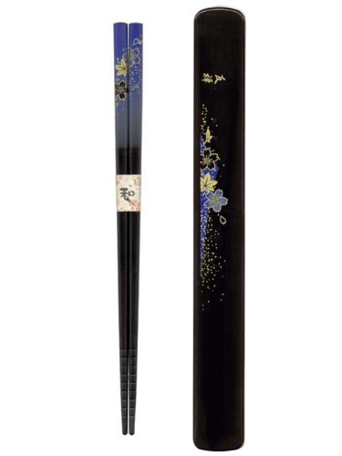 Tanaka Hashiten Chopsticks with Box, Dark Blue, 22.5cm