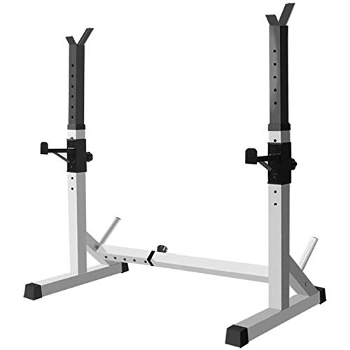 N&W Squat Stands Weight Lifting Rack Bench Press Rack Dumbbell Stand Fitness Barbell Rack Strength Training Stand for Indoor Gym