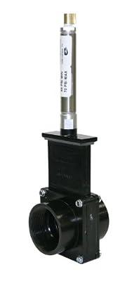 "Valterra 9207 ABS Gate Valve, Black, 2"" FPT, Metal Air Cylinder by Valterra Products"