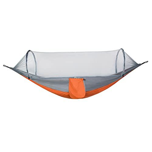 Amaca con rete e bilanciamento Spreader Bar Paracadute Tessuto Viaggio Hammock per Campeggio Esterna Backpacking Viaggi Escursioni (Colore: B, Dimensioni: 260x140cm)
