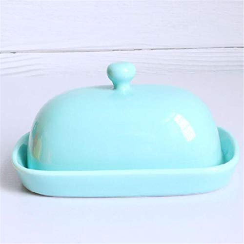 XinLuMing Butterdose Household Butter Box Multipurpose Butter Box with Lid Square Plate Handpainted Ceramic Jewelry Box Dish Sauce Butterbox for household and kitchen (Color : D)